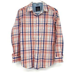 Nautica Boys Plaid Button Down Long Sleeve Shirt
